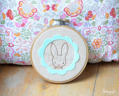 Download Spring Bunny - hand embroidery PDF pattern & instructions immediately at Makerist