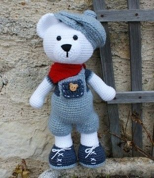 Download Gaston the little bear Gavroche, crochet pattern - Crochet Patterns immediately at Makerist