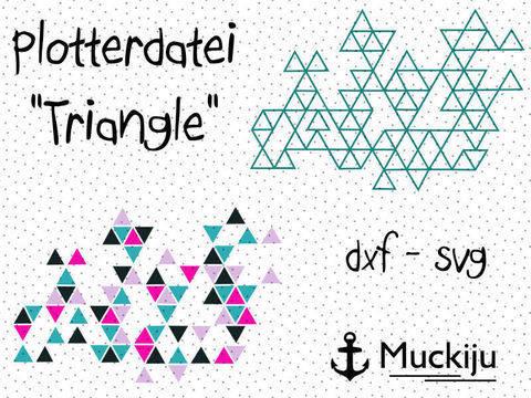 "Plotterdatei ""Origami Triangle"" bei Makerist sofort runterladen"