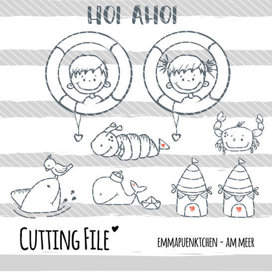 Download emmapuenktchen ® cutting file - am meer - Cutting Files immediately at Makerist