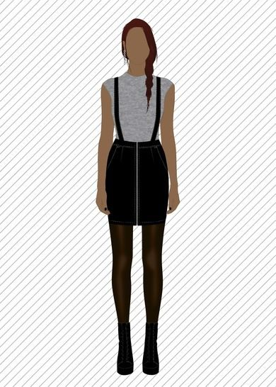 xs xl jupe courte avec bretelles crois es patron et tuto. Black Bedroom Furniture Sets. Home Design Ideas