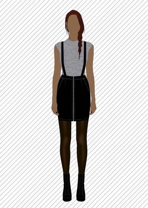 Télécharger SK707 Jupe courte avec bretelles - Patron de couture PDF tout de suite sur Makerist