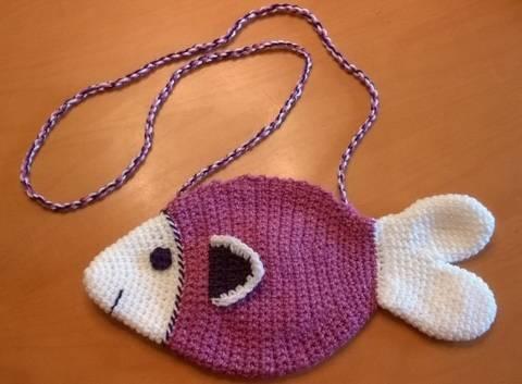 kleine Handtasche Fisch - Häkelanleitung bei Makerist sofort runterladen