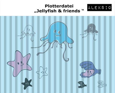 Plotterdatei Jellyfish and Friends Set bei Makerist sofort runterladen