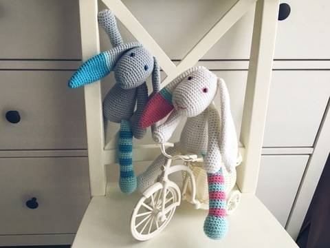 Download Crochet Pattern Easter Bunny immediately at Makerist