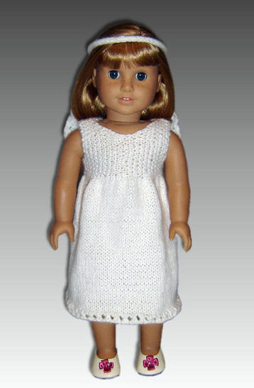 Download 18 inch doll, first communion dress. - Knitting Patterns immediately at Makerist
