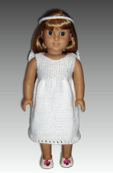 Download 18 inch doll, first communion dress. immediately at Makerist