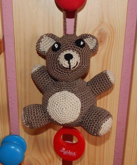 Häkelanleitung Spieluhr Teddy