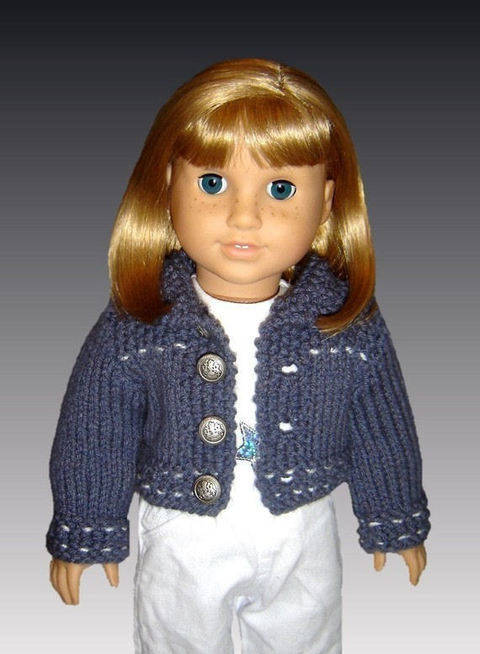 Download 18 inch doll. Jean jacket and skirt. immediately at Makerist