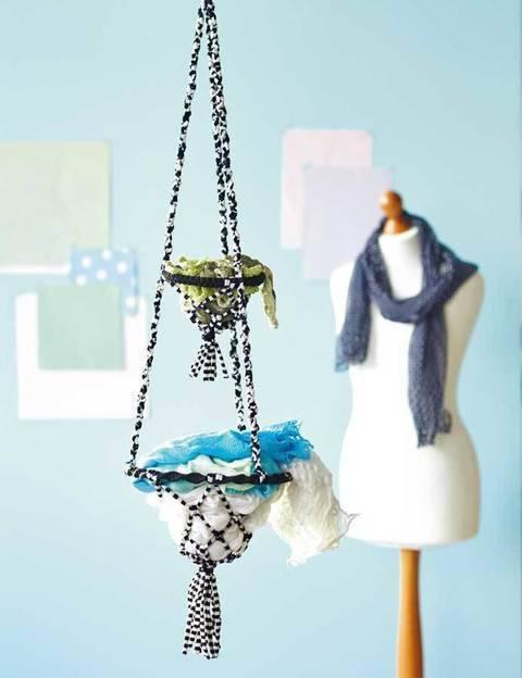 Doppelutensilo aus Textilgarn Knüpfanleitung bei Makerist sofort runterladen