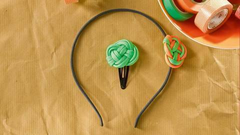Haarreif & -spange aus Paracord Knüpfanleitung bei Makerist sofort runterladen