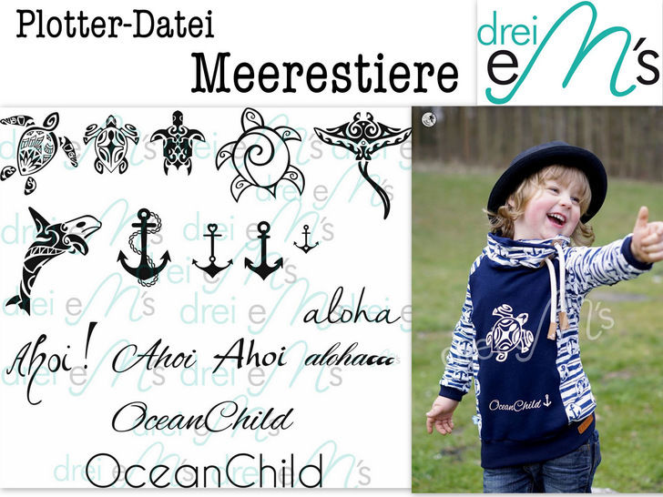 "Download Cutting-File ""Meerestiere"" – Sea Life - Cutting Files immediately at Makerist"