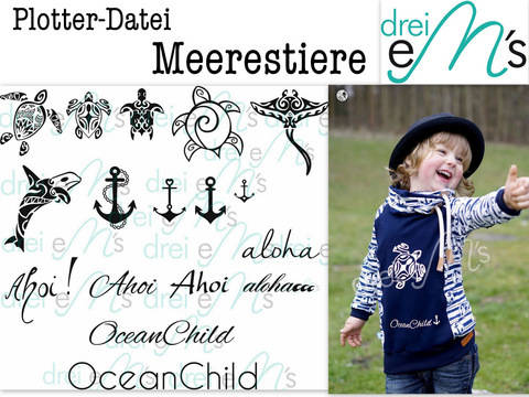 "Download Cutting-File ""Meerestiere"" – Sea Life immediately at Makerist"