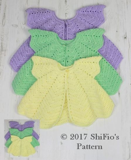 Download CP368 CROCHET PATTERN For Rippled Angel Top in 3 Sizes, 6 months to 4 years, Girls, Baby, Summer U.K, U.S.A  PDF 368 - Crochet Patterns immediately at Makerist