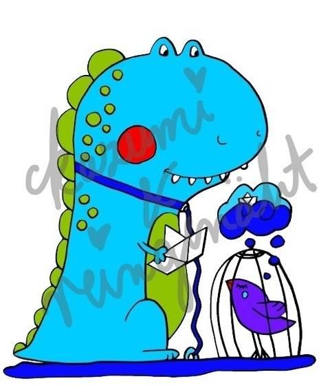 Plottdatei DinoFreund von Reingenäht nach einem Design von Ka-Zu-Mi bei Makerist sofort runterladen