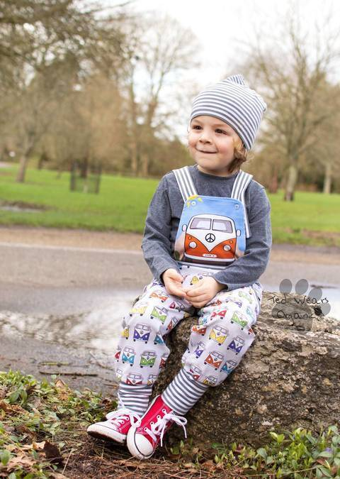 Download Kids Dungarees and Track Pants PDF Sewing Pattern immediately at Makerist