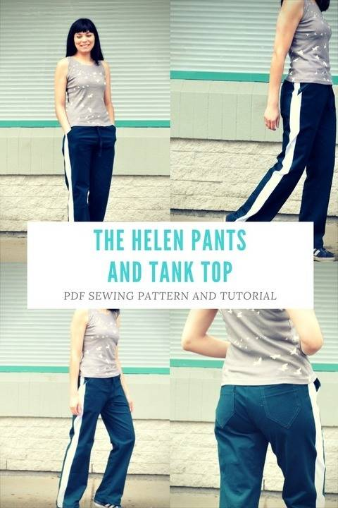 Download Helen Track pants and Sleeveless top immediately at Makerist