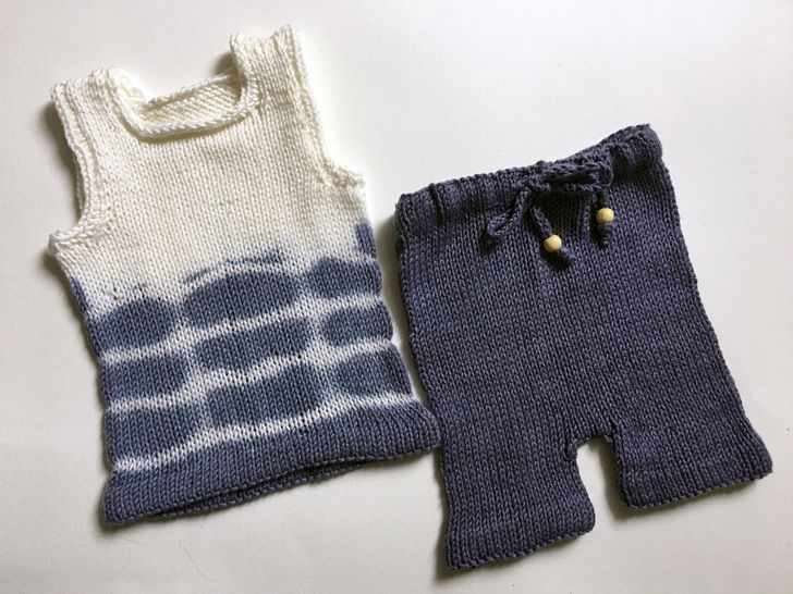Download Baby Tank Top & Short Set - Knitting Patterns immediately at Makerist
