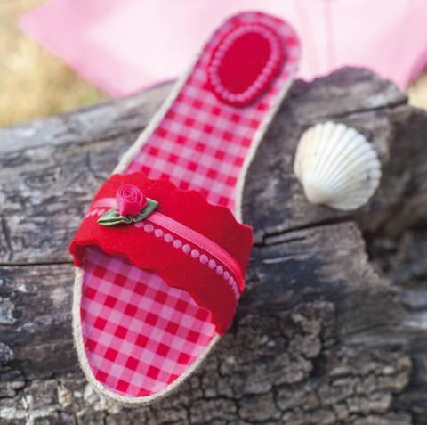 Espadrille-Sandalen im Romantik-Look Nähanleitung mit Schnittmuster bei Makerist sofort runterladen