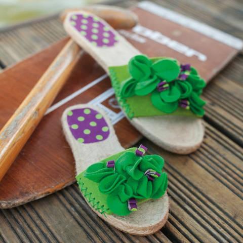 Espadrille-Sandalen mit Filzblüten Nähanleitung mit Schnittmuster bei Makerist sofort runterladen