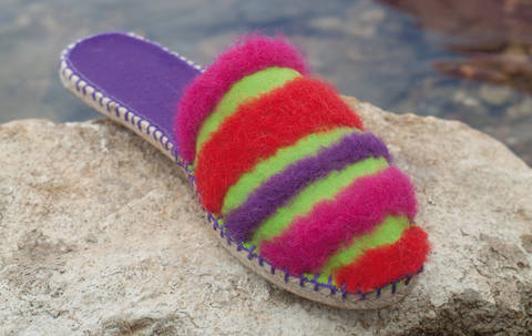 Espadrille-Sandalen mit gefilzten Streifen Nähanleitung mit Schnittmuster bei Makerist sofort runterladen
