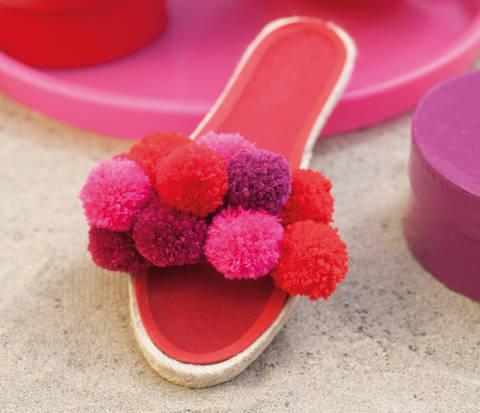 Espadrille-Sandalen mit Pompons Nähanleitung bei Makerist sofort runterladen