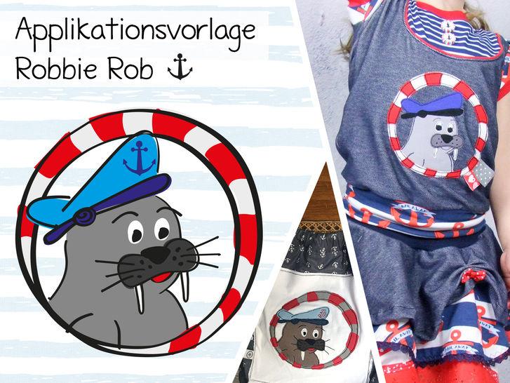 Applikationsvorlage Robbie Rob - Nähanleitungen bei Makerist sofort runterladen
