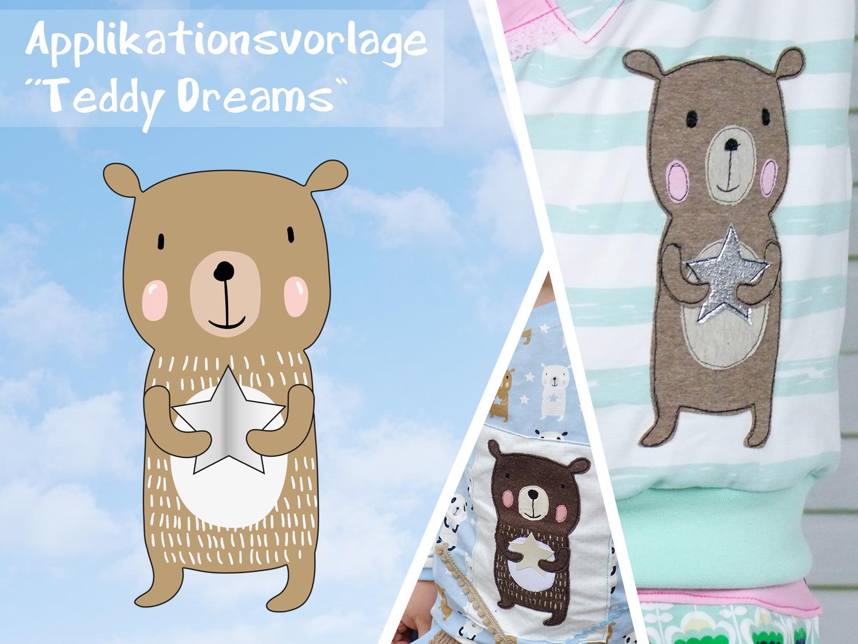 Applikationsvorlage Teddy Dreams