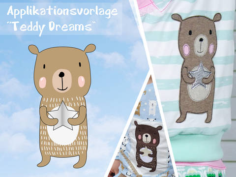 Applikationsvorlage Teddy Dreams bei Makerist sofort runterladen