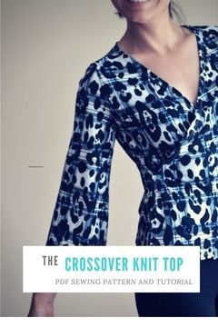 Download Crossover Top PDF Sewing Pattern and printable tutorial - Sewing Patterns immediately at Makerist