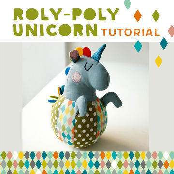 Download Roly-poly Unicorn for babies, plushie, cuddly toy - pattern and detailed sewing instructions - Sewing Patterns immediately at Makerist