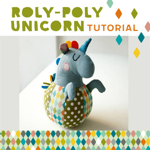 Download Roly-poly Unicorn for babies, plushie, cuddly toy - pattern and detailed sewing instructions immediately at Makerist