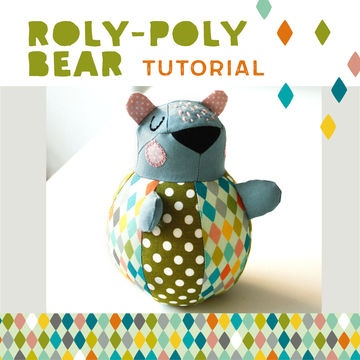 Download Roly-poly Bear for babies, plushie, cuddly toy - pattern and detailed sewing instructions - Sewing Patterns immediately at Makerist