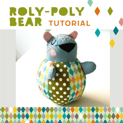 Download Roly-poly Bear for babies, plushie, cuddly toy - pattern and detailed sewing instructions immediately at Makerist