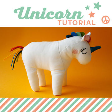 Download Unicorn plushie, cuddly toy - pattern and detailed sewing instructions - Sewing Patterns immediately at Makerist