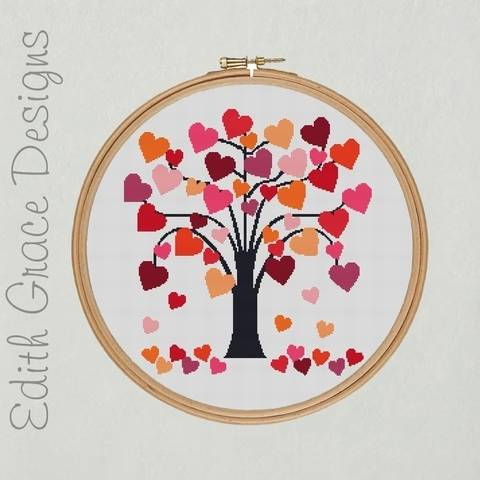 Download Love Heart Tree Embroidery immediately at Makerist