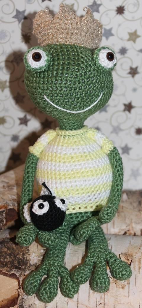 Häkelanleitung Kantensitzer Frosch liebt Fliege bei Makerist sofort runterladen