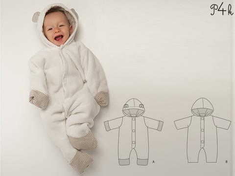 """Cassia""  - Schnittmuster Babyoverall Kuschelanzugin 2 Modellvarianten  bei Makerist sofort runterladen"