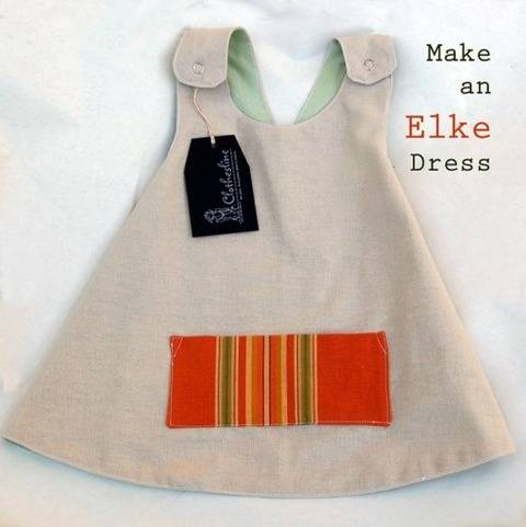 Download Little Girls Easy to Sew Digital Dress Pattern to print at home - Elke Apron Pinafore Dress immediately at Makerist