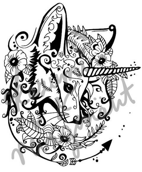Plottdatei EinhornFuchs von Reingenäht nach einen Design von Ka-Zu-Mi bei Makerist sofort runterladen