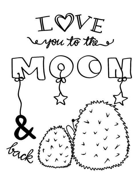 Plotterdatei Love you to the moon Freebie bei Makerist sofort runterladen