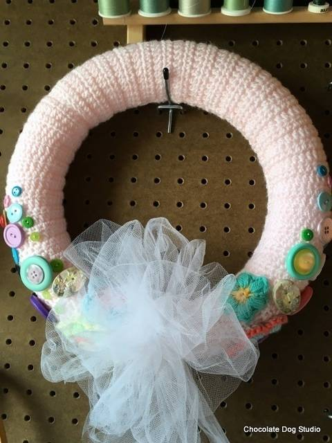 Download Spring Wreath- Easy crochet wreath immediately at Makerist