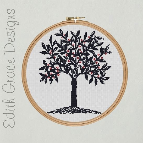 Download Blue Tree Embroidery - Embroidery Patterns immediately at Makerist