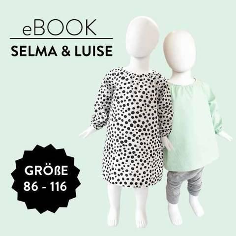 Kleid und Bluse SELMA & LUISE Nähanleitung und Schnittmuster Größen 86 b is 116 bei Makerist sofort runterladen