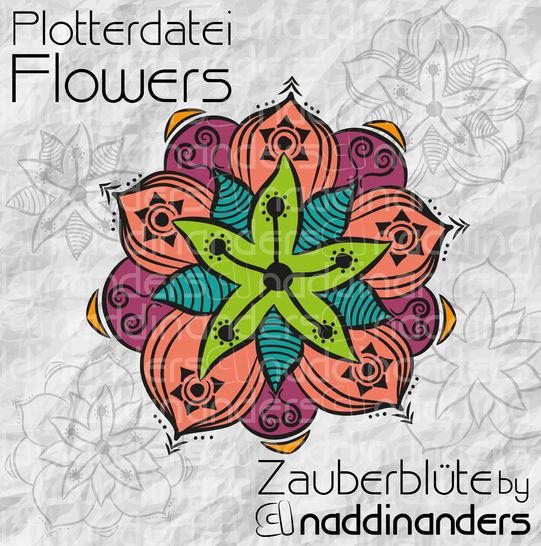 Plotterdatei Flowers Zauberblüte - Plotterdateien bei Makerist sofort runterladen