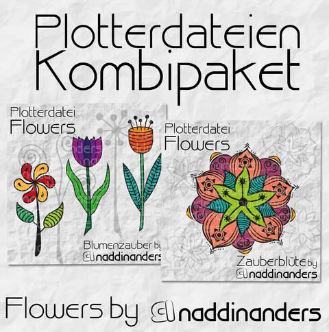 Plotterdatei Flowers Kombipaket bei Makerist sofort runterladen