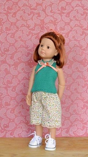 """Télécharger """"Eau d'été"""" patron 2 pièces pour poupée de 40 cm à 50 cm - couture et tricot - Patrons de couture tout de suite sur Makerist"""