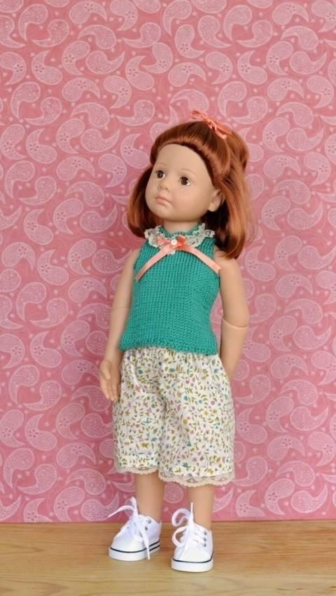 """Télécharger """"Eau d'été"""" patron 2 pièces pour poupée de 40 cm à 50 cm - couture et tricot tout de suite sur Makerist"""