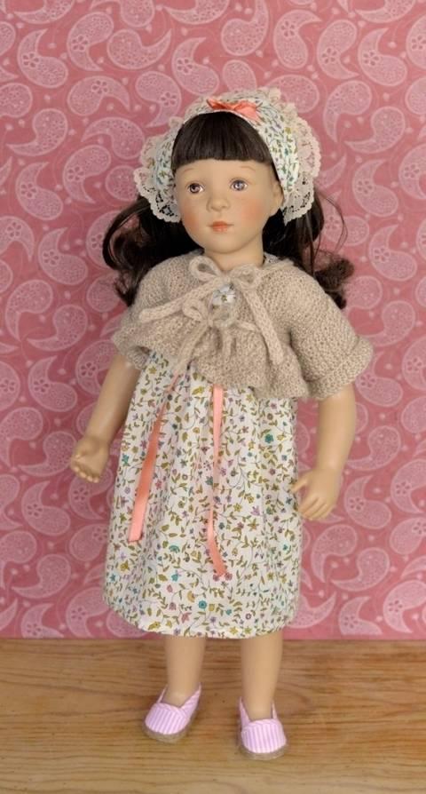 """Télécharger """"Basques et Fleurs"""" Patron 3 pièces pour poupée de 40 cm à 50 cm - couture et tricot tout de suite sur Makerist"""