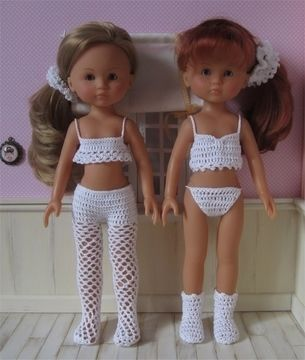 Download Lingerie: two crochet outfits for 32-33cm dolls - Crochet Patterns immediately at Makerist